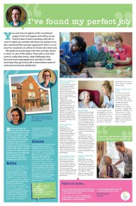 Full page advertorial in Lymington Times for Colten Care recruitment